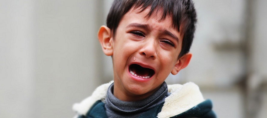upset child crying